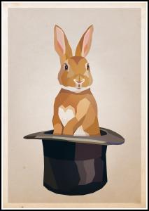 Bildverkstad Rabbit in hat Poster