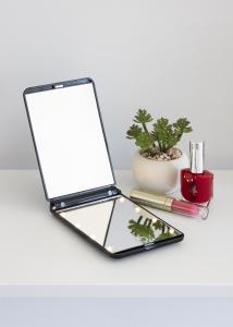 KAILA KAILA Kosmetikspiegel Fold III Schwarz - 12x8 cm