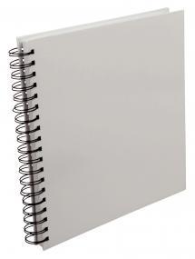 Quadratisches Spiralfotoalbum Weiß -25x25 cm (80 Weiß Seiten / 40 Blatt)