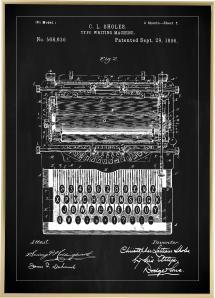 Bildverkstad Patentritning - Skrivmaskin - Svart