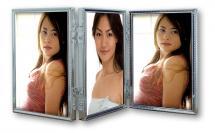 ZEP Tripla Silber 3 Bilder Aufklappbarer Bilderrahmen 10x15 cm
