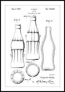 Lagervaror egen produktion Patentzeichnung - Coca-Cola-Flasche Poster