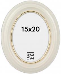 Estancia Eiri Mozart Oval Weiß 15x20 cm