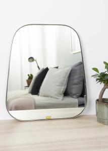Hübsch Spiegel Trapezium Metall 42x48 cm