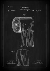 Bildverkstad Patent Print - Toilet Paper Roll - Black