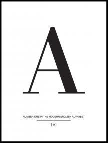 Lagervaror egen produktion Letter A Poster