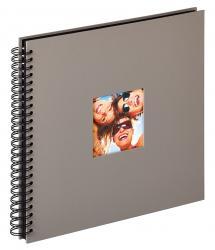 Walther Fun Spiralalbum Grau - 30x30 cm (50 schwarze Seiten / 25 Blatt)