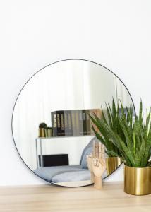 KAILA KAILA Round Mirror - Thin Black 70 cm Ø