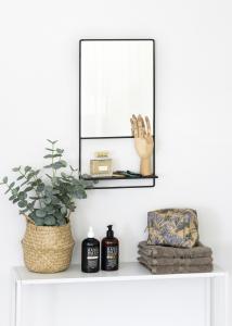 KAILA KAILA Spiegel mit Ablage - Schwarz 31x60 cm