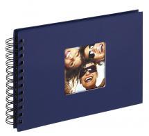 Walther Fun Spiralalbum Blau - 23x17 cm (40 schwarze Seiten / 20 Blatt)