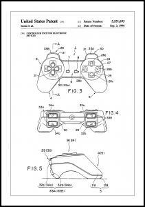 Bildverkstad Patent Print - Game Controller II - White