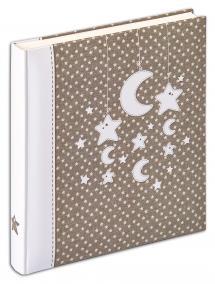 Walther Stars & Moon Album - 28x30,5 cm (50 weiße Seiten / 25 Blatt)