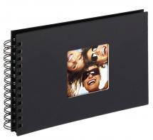 Walther Fun Spiralalbum Schwarz - 23x17 cm (40 schwarze Seiten / 20 Blatt)