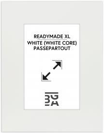 Galleri 1 Passepartout XL Weiß (weißer Kern) 40x50 cm (20x28,7 - A4)