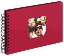 Walther Fun Spiralalbum Rot - 23x17 cm (40 schwarze Seiten / 20 Blatt)