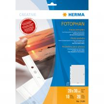Difox Herma Fototaschen 20x30 cm vertikal - 10er-Pack Weiß