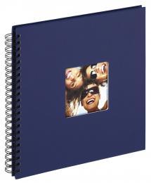 Walther Fun Spiralalbum Blau - 30x30 cm (50 schwarze Seiten / 25 Blatt)