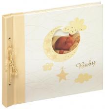 Walther Babyalbum Bambini Maxi Creme - 28x25 cm (60 weiße Seiten / 30 Blatt)