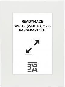 Galleri 1 Passepartout Weiß (weißer Kern) 30x40 cm (19x29)
