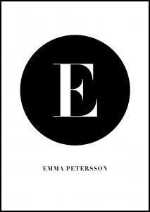 Personlig poster Circle capital - White