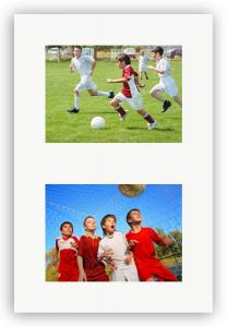 Passepartouter Måttbeställda Collage-Passepartout Weiß 2 Bilder - Maßanfertigung (Weißer Kern)