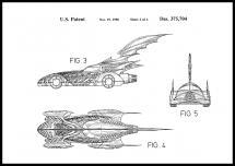 Bildverkstad Patentritning - Batman - Batmobile 1996 II