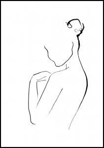 Cora konst & illustration Woman In Ink