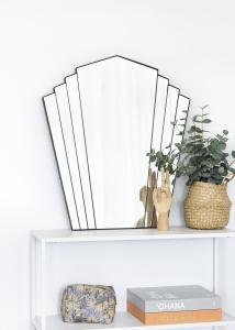 KAILA KAILA Spiegel Fan - Schwarz 63x70 cm