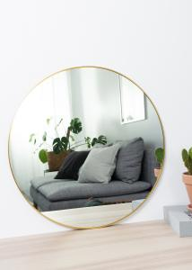 House Nordic Spiegel Jersey Messing 60 cm Ø