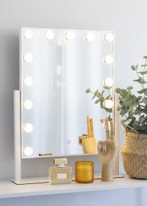 KAILA KAILA Kosmetikspiegel VI Weiß - 46x60 cm