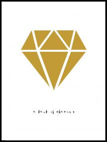 Bildverkstad Diamant - Gold Poster
