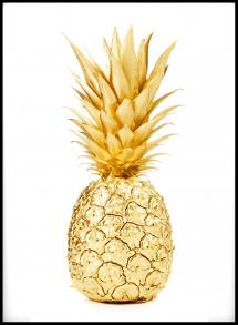 Lagervaror egen produktion Gold Pineapple Poster