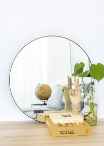 House Nordic Spiegel Jersey Schwarz 60 cm Ø
