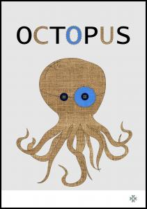 Bildverkstad Fabric octopus Poster