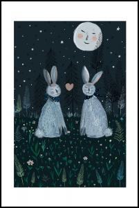 Bildverkstad Rabbits in the Forest