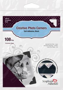 3L Creative Photo Corners Svart - 108 st