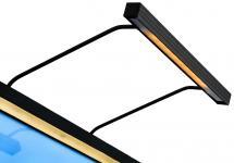 BLP Tavelbelysning BLP 117 für Rahmenbreite 45-70 cm Bildbeleuchtung - Schwarz