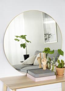 House Nordic Spiegel Jersey Messing 100 cm Ø