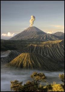 Bildverkstad Green volcano Poster