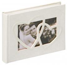 Walther Sweet Heart Fotoalbum - 22x16 cm (40 weiße Seiten / 20 Blatt)