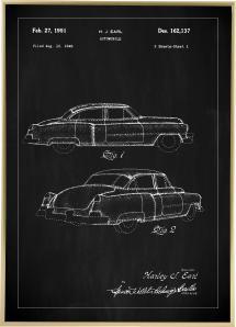 Lagervaror egen produktion Patentzeichnung - Cadillac I - Schwarz