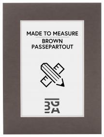 Egen tillverkning - Passepartouter Passepartout Braun (Weiß kärna) - Maßgefertigt