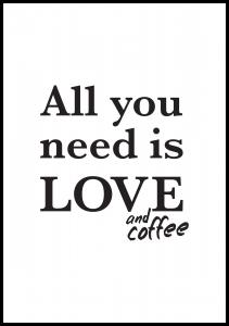 Bildverkstad Love and coffee Poster