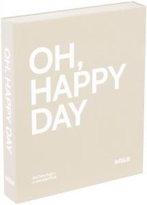 KAILA KAILA OH HAPPY DAY Grey - Coffee Table Photo Album (60 Schwarze Seiten)