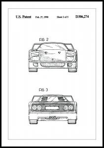 Bildverkstad Patentzeichnung - Ferrari F40 III