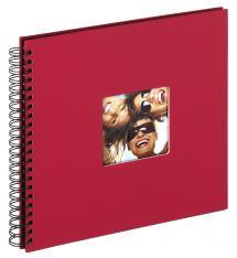 Walther Fun Spiralalbum Rot - 30x30 cm (50 schwarze Seiten / 25 Blatt)