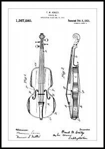 Bildverkstad Patentzeichnung - Geige