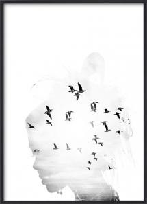 Lagervaror egen produktion Bird Head B&W