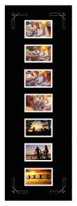 Egen tillverkning - Passepartouter Passepartout Schwarz 30x90 cm - Collage 7 Bilder (9x14 cm)
