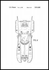Bildverkstad Patentzeichnung - Batman - Batmobile 1990 IIII